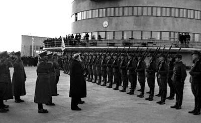 Presidentti Kallio lähdössä Malmilta Tukholmaan anomaan apua Suomelle lokakuussa 1939, juuri ennen talvisotaa.